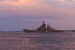 "Атомный крейсер Петр Великий. The nuclear-powered cruiser ""Peter the Great"" (atardecer2018) Tags: 2017 санктпетербург sanpetersburgo saintpetersburg sea sky ship"