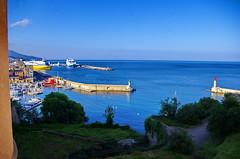 685 - Bastia la Citadelle, le Port vu de la Place du Donjon (paspog) Tags: bastia corse corsica france mai may 2018 ctadelle citadel port ferries mole jetty jetée