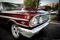 Ford V8 351 High Performance (Photos By Clark) Tags: location california elcajon canon2470 canon5div northamerica cities unitedstates locale places where us lightroom nik colorefx ford v8 351c red chrome restored modified thesandiegoist