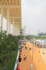 the bridge (Rasande Tyskar) Tags: china shanghai metropolis city stadt metropole sky scraper wolkenkratzer brücke menschen bridge people