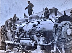 Assembling Locomotive 103 at St, Nazaire France - 2-14-1918 NARA111-SC-006303-ac (over 21 MILLION views Thanks) Tags: baldwin philadelphia stnazairefrance 1918 steamlocomotive assemblyplant assemblingplant 280 usar france