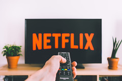 Netflix and chill (freestocks.org) Tags: addiction addictive button buttons chill computer connect control demand digital entertainment film films flower hand hold home internet leisure media modern net netflix online orange plant pot press remote screen series service show stream streaming subscription tech technology television time tv watch watching web