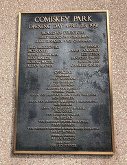 Comiskey Park (Crawford Brian) Tags: comiskeypark uscellularfield guaranteedratefield chicagowhitesox baseball stadium plaque 1991 whitesox majorleaguebaseball mlb illinois urban armoursquare southside