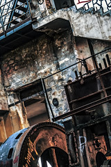 Back In the Days, Back In Time... (Constantinos_A) Tags: sony alpha a6300 drapetsona machine athens fertilizing factory rust iron pressure old room abandoned industrial decay city building