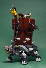 Great  Steppes Walking Fortress (IamKritch) Tags: turtle tortoise lego medieval middle ages castle tower