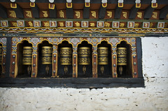Changangkha Lhakhang Spinning Prayer Wheels (William J H Leonard) Tags: changangkhalhakhang bhutan bhutanese thimphu southasia southasian asia asian himalayas himalayan buddhist buddhism buddhisttemple buddhists buddha travel travelphotography travelling temple