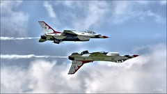 Soloists (Images by A.J.) Tags: united states air force thunderbirds usaf aerial demonstration squadron lockheed martin f16 fighting falcon viper airshow westmoreland county latrobe pennsylvania laurel highlands military aviation airplane aircraft jet fighter formation