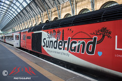 "43274's ""Sunderland"" vinyls (CS:BG Photography) Tags: 43274 spiritofsunderland class43 hst intercity125 highspeedtrain kgx london londonkingscross kingscross ecml eastcoastmainline lner londonnortheasternrailway"