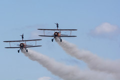 DSC_9510 copy (quintinsmith_ip) Tags: aerosuperbatics flyingcircus 'superstearmans stearmans plane formation flight smoke smoking orange white wingwalkers sunderland 2018