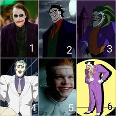 Top 6 favorite Jokers (jooshfigs) Tags: joker thejoker dc batman comicbook jooshfigs darkknightreturns gotham