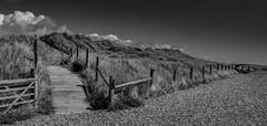 IMG_3731_stitch-1 (Simon Taylor Local Photographic) Tags: beach dunes sand sky grass littlehampton ocean nopeople cloud pebbles boardwalk coast bw west sussex westsussex