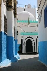 Morabito (daniel.virella) Tags: tanger morocco alley morabit green islam doors medina blue picmonkey