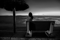 There is always a free place for good memories. (Ramiro Francisco Campello) Tags: blancoynegro blackandwhite memories recuerdos loneliness love soledad lake girl dama solitario lago guamini lagunaguamini buenosaires bahíablanca ramirofranciscocampello ramirocampellofoto grenuol