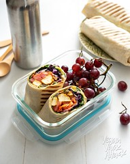 Chipotle Tofu Rainbow Wrap (Yack_Attack) Tags: vegan vegetarian food recipe easy lunch backtoschool school healthy chipotle tofu blog rainbow fruits veggies meal plantbased airfryer baked tahini hummus sauce dijon veganyackattack jackiesobon foodphotographer foodstylist nikon d750 entree