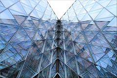 kaleidoscope (Bernergieu) Tags: genf geneva switzerland japantobaccointernational architektur architecture glas glass geometrie geometric lookingup reflection inexplore