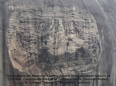 Carving of Georgia's Stone Mountain (HomeandGardenShowTour.com Isabelle Courcelle) Tags: stone mountain georgia attractions granite carving history confederate memorial park real estate atlanta