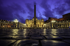 Blue hour (iosif.michael) Tags: sony a7 longexposure bluehour night colour vatican landmark sightseeing rome travel
