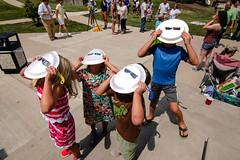Solar Eclipse Centre College 2017 (Centre College) Tags: 2017 day eclipse experientiallearning outside summer topshot danville kentucky unitedstates usa