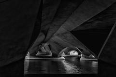 under the bridge (ro_ha_becker) Tags: singapore architecture architektur brücke bridge esplanadebridge monochrome zwartwit schwarzweiss biancoenero blancetnoir blackandwhite blancoynegro