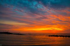 Enchanted Evening (Slav.Burn) Tags: sea sunset sunsetlight beautifulsunset dusk magicdusk sunsetbeauty skylights skycolors beautifulcolors balticsea poland darłowo darłówko ngc pentaxart