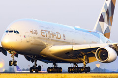 A6-APA A380 ETIHAD AIRWAYS (chefyeti) Tags: 380 avion whale airbus golden hour sunrise cdg airport nikon d810 etihad 388 landing awesome incredible bigger big biggest nikonflickraward