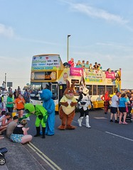 Carnival Bus Hoppers (Better Living Through Chemistry37) Tags: 18186 mx54lpn stagecoach stagecoachdevon stagecoachsouthwest buses paigntoncarnival carnivalparade hop122 opentopbuses gary garytherabbit
