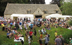 Behind the medieval tithe barn at the 2018 Cotswold Beer Festival (Phil Heneghan) Tags: img1818 cotswoldbeerfestival postliphall winchcombe gloucestershire uk summer july 2018 camra beerfestival cotswolds canonpss11020180721 tithebarn barn medievaltithebarn
