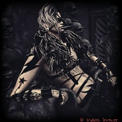 Looking for trouble.. (iridias666) Tags: goth secondlife vampire fantasy