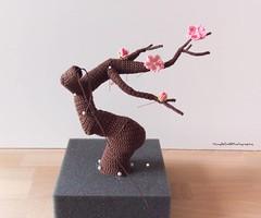 Crochet Cherry blossom bonsai WIP (Mingle Doll 鳴娃娃) Tags: crochet crochetamigurumi amigurumi bonsai crochetbonsai crochetcherryblossombonsai crochetart crochetaddicted crochetartist