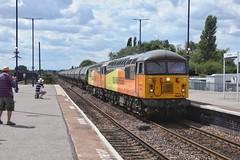 Big Power Tanks (JohnGreyTurner) Tags: br rail uk railway train transport diesel engine locomotive barnetby lincs lincolnshire station colas freight tanks 56 class56 grid