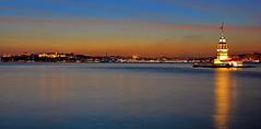 Istanbul silhouette (meren34) Tags: istanbul boshhorus silhouette evening horizon tower city nights sea longexposure sky mosque turkey palace