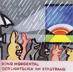 Strapazin / Aufkleber (micky the pixel) Tags: werbung anzeige inserat advertisement aufkleber sticker strapazin magazin grafik kunst art comicart regenbogen rainbow regen rain hase rabbit kino cinema kinomorgental zürich