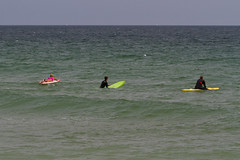 The Colors of Surf School (brucetopher) Tags: surfschool surf surfing learntosurf learning beach sea ocean atlantic wave waves swimsuit swim swimming breakers pink green yellow blue coast coastal seacoast seashore shore fun girl boy man woman wetsuit surfboard eastcoastsurf