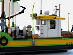fishing boat4.lxf (Brick picker) Tags: boat captain daniel fishing old lego moc afol ideas creator brick brique bricks briques legos legocreation legomoc vintage figurinescale figure modular dom river ocean ship bois wood bateau