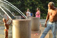 Ready to splash (radargeek) Tags: charleston sc southcarolina august 2017 downtown fountain splash spray children child kid kids play playing waterfrontpark