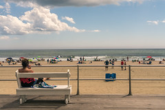 Watching the Game - Ocean Grove (mcmessner) Tags: beach boardwalk fineart newjersey og oceangrove streetphotography travel travelphotography usa