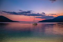 Sail away (Vagelis Pikoulas) Tags: boat yacht porto germeno greece sea seascape landscape summer canon twilight 6d tokina 2470mm view sky night blue hour