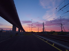 P8081133 (Asansvarld) Tags: älvsjögodsbangård railroad järnväg sunrise soluppgång microfourthirds olympusomdem5 olympusmzuikodigitaled915mmf4056 earlymorning tidigmorgon dawn gryning stockholm sweden sverige summer sommar