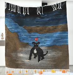 Black Dog Weaving Oaxaca Mexico (Teyacapan) Tags: perro dogs tapete rug weaving zapotec underworld river teotitlan museum textiles mexico oaxaca
