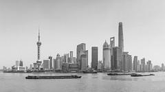 Skyline of Shanghai (frank.gronau) Tags: river schwarz white weis black skyline shanghai gronau frank