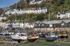 Low tide at Looe, Cornwall (Baz Richardson (back on 26 May)) Tags: cornwall looe looeriver smalltowns yachts fishingboats markettowns rivers