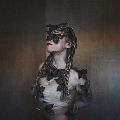 quiet the night (brookeshaden) Tags: brookeshaden fineartphotography selfportraiture selfportrait fineart darkart darkphotography surrealism surrealphotography painting painterly butterfly creepy