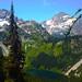 Rainy Lake and Peaks (AS_Roma_4) Tags: mountain sky glacier canon cascade white blue tree green pine water lake