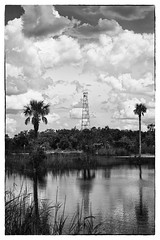 Copeland tower (another_scotsman) Tags: everglades florida copeland fakahatchee mono landscape clouds reflections