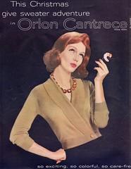 Orlon 1959 (barbiescanner) Tags: vintage retro fashion vintagefashion 50s 50sfashions 50sadvertising 1950sfashions 1950sadvertising 1959 vogue orlon joannamccormick