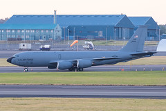 63-8034 KC-135R USAF Prestwick 02.07.18 (Robert Banks 1) Tags: 638034 38034 boeing kc135r k35r usaf united states air force prestwick egpk pik 92 arw 141 amc mobility command