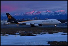 N605UP UPS United Paecel Service (Winter Sunset) (Bob Garrard) Tags: n605up ups united paecel service sunset anc panc boeing 747 748 748f winter