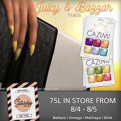 Saturday Sale 8/4 (Dima Plessis - { C A Z I M I }) Tags: cazimi sl second life nail nails polish applier appliers maitreya belleza omega slink saturday sale