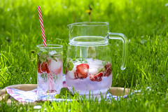 Delicious ice fruit tea (Arshadehrar) Tags: strawberrydrink fruittea ice refreshment summer cool strawberry mint mineralwater jug tube glass bubbles sun green grass flowers blooming apple closeup glow relaxation fortunately leisure red garden event lawn picnic beautiful ancient gorgeous fresh mature view forest nature natural park colorfull colorful