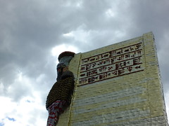 Writ in Cuneiform (failing_angel) Tags: 010518 london cityofwestminster theinvisibleenemyshouldnotexistbymichaelrakowitz fourthplinth theinvisibleenemyshouldnotexistproject lamassu wingedbull nergalgate nineveh cuneiform